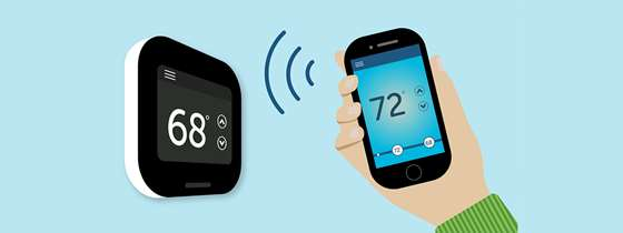 A smart thermostat and phone app