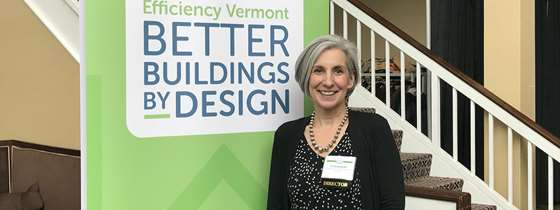 Photo of blog author Liz Gamache at the Better Buildings by Design conference