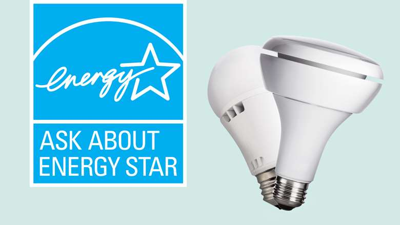 ENERGY STAR LED bulbs and ENERGY STAR logo