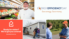 photo collage of energy efficiency success stories