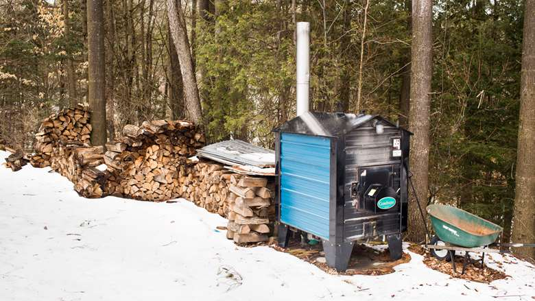Photo of the old wood heater