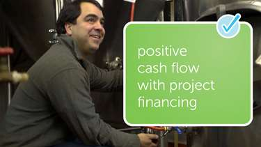 positive cash flow with project financing