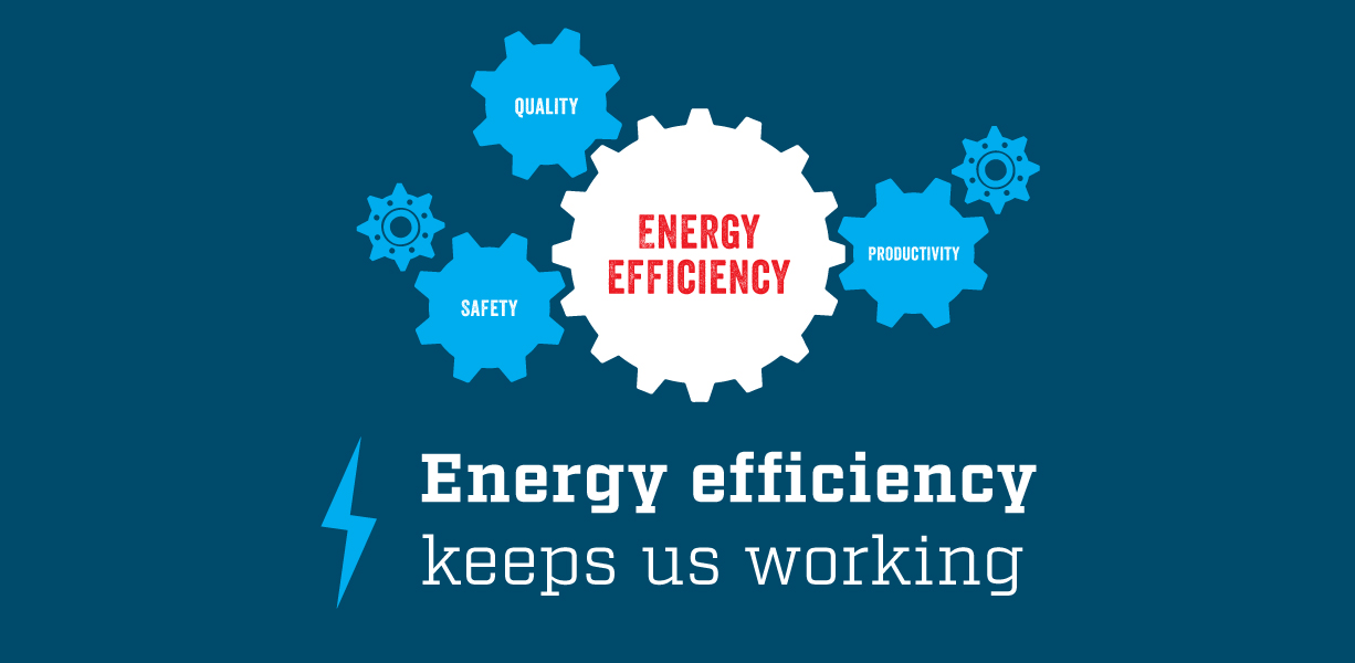 Energy efficiency keeps us working banner