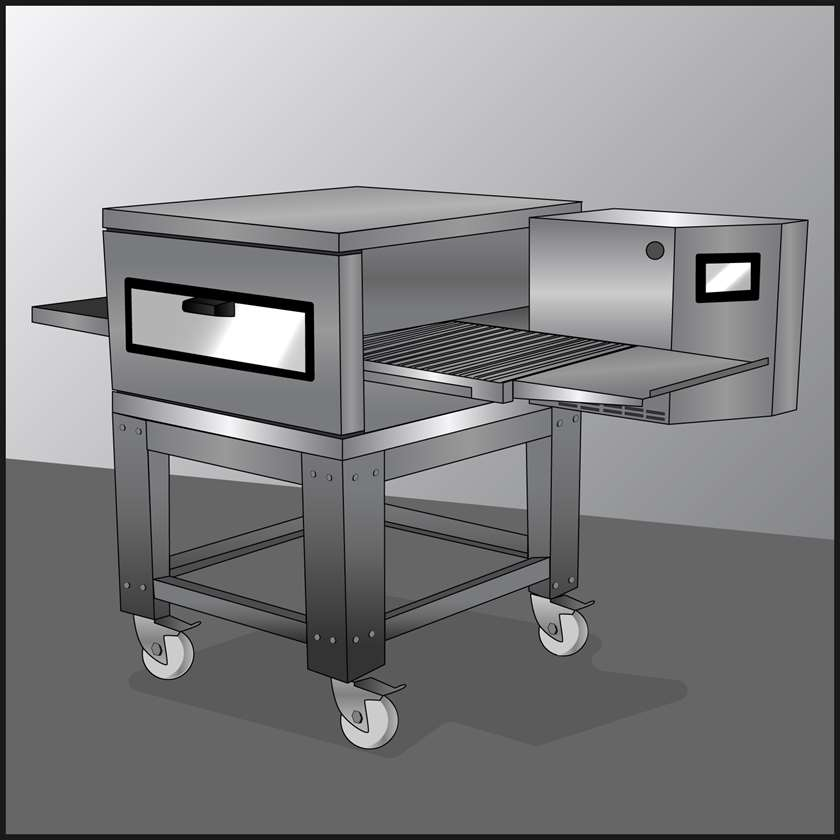 An illustration of a Conveyor Ovens
