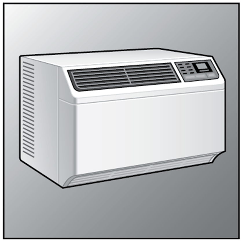 An illustration of a Window Air Conditioners