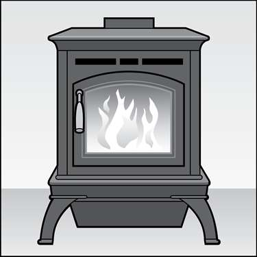 An illustration of a Wood and Pellet Stoves
