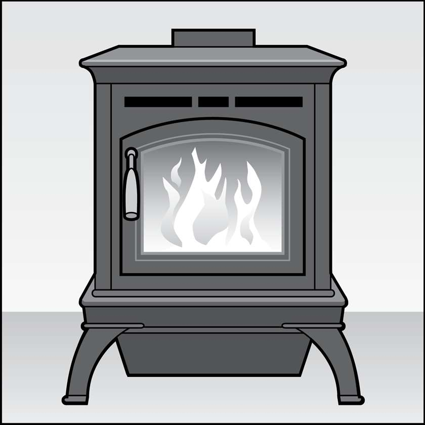 An illustration of a Wood Stoves