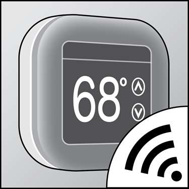 An illustration of a Smart Thermostats