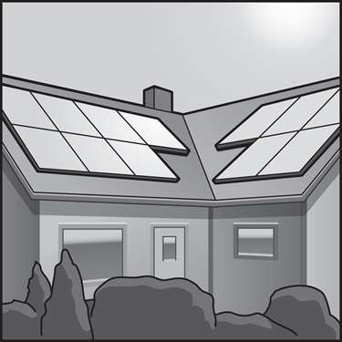 An illustration of a Solar Photovoltaic (Solar PV)