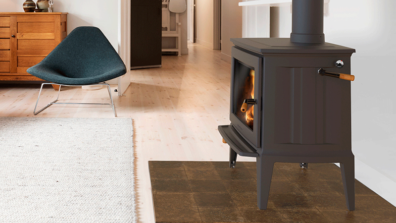 EPA certified wood stove in a modern home